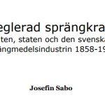 Nobel tog kommando över reglering med sprängkraft