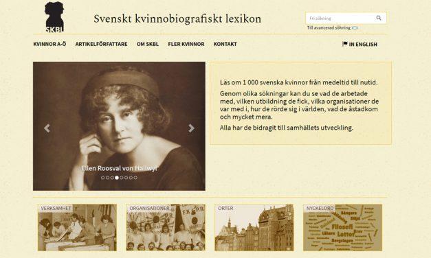 Svenskt kvinnobiografiskt lexikon blir dubbelt så stort