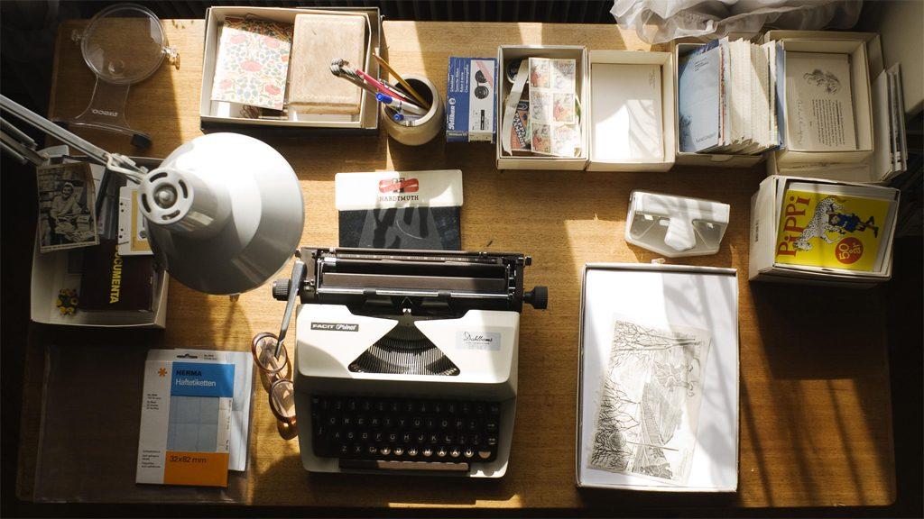 Delar av Astrid Lindgrens arkiv. Foto: Jessica Lund/KB