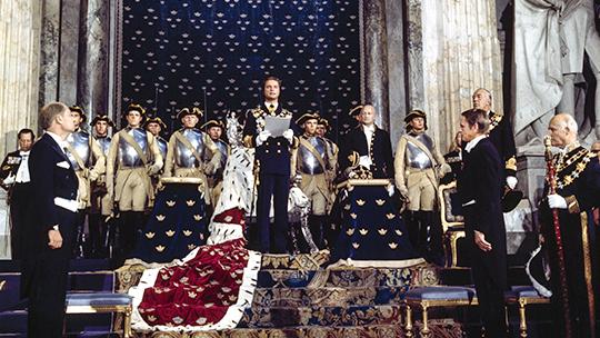 Kungens trontillträde den 19 september 1973. Foto ur Bernadottebibliotekets bildarkiv