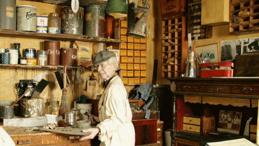 Interiör från Måleriyrkets museum. Foto: Måleriyrkets museum