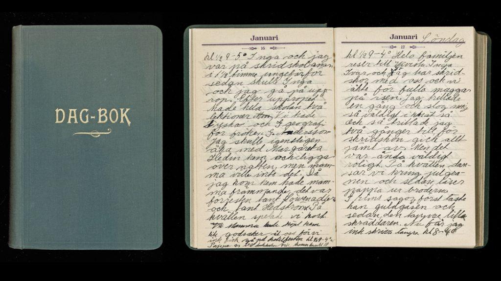 Anna Segelbergs dagbok från 1925. Foto: Sörmlands museum (CC BY-SA 4.0)