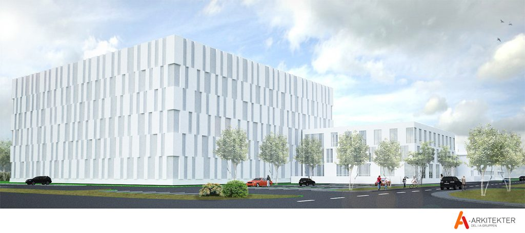 Arkitektskiss över nybyggnationen. Illustration: A-Arkitekter
