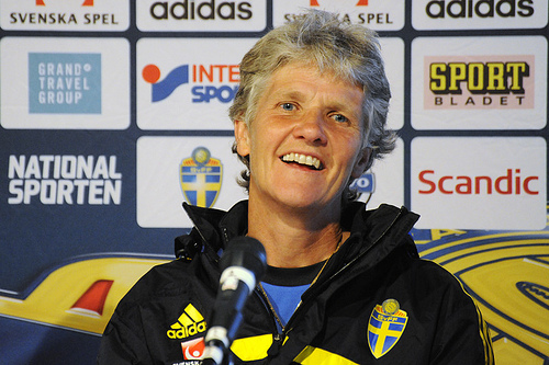 Pia Sundhage. Foto: Anders Henrikson/Flickr CC BY 2.0
