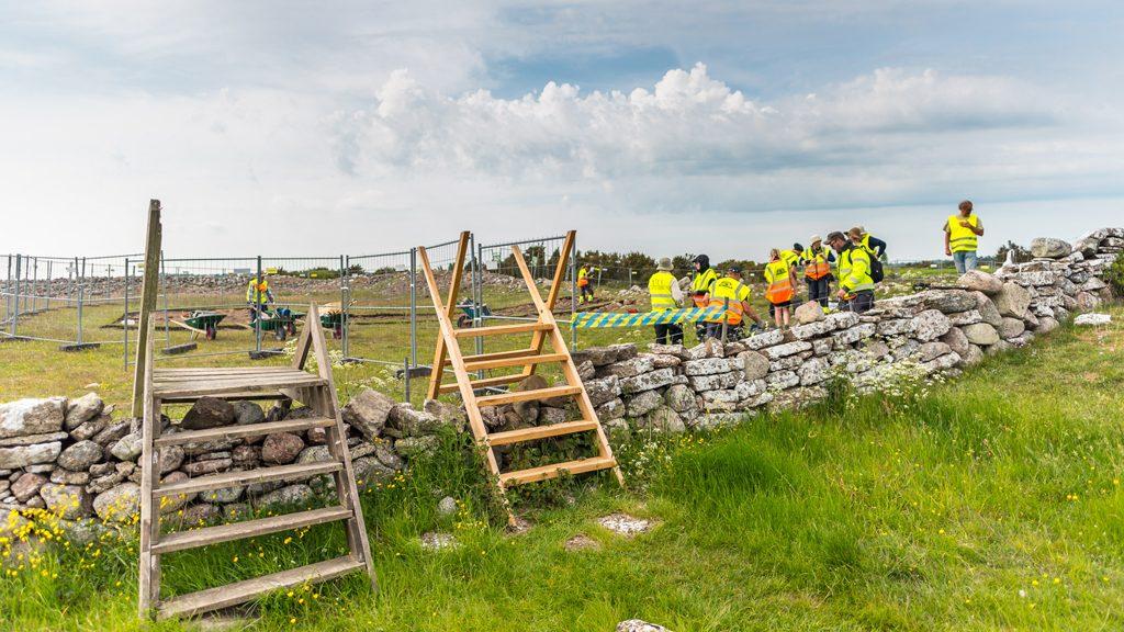 Utgrävning i Sandby borg. Arkivbild: Daniel Lindskog/Kalmar läns museum