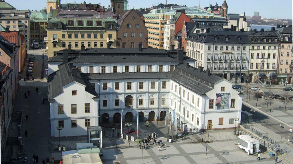 Stockholms stadsmuseum från ovan. Foto: Stadsmuseet