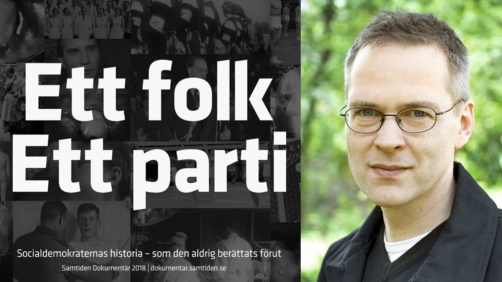 Foto ur filmen. Fotot på Jens Ljunggren från Nordic Academic Press.