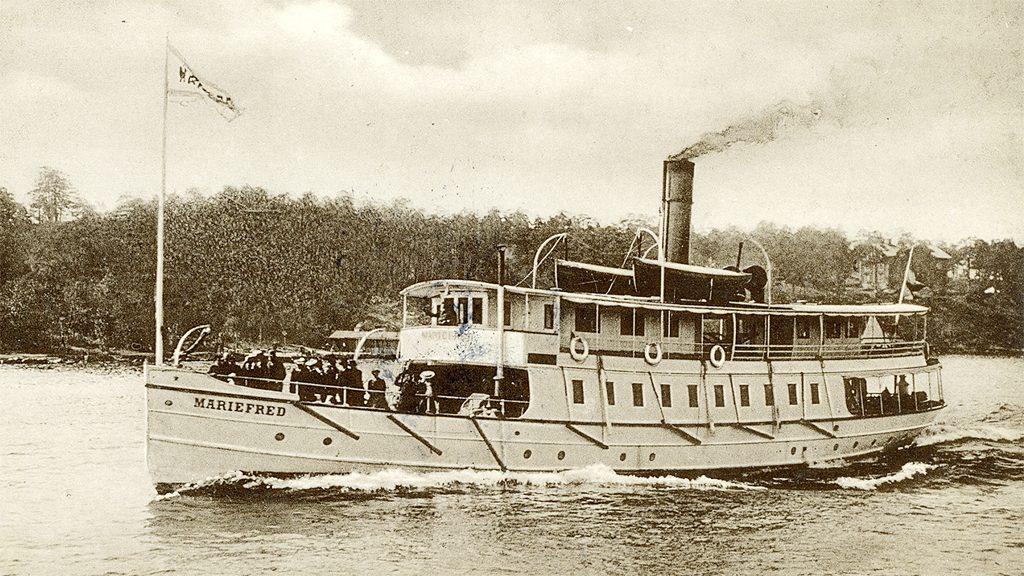 Mariefred är ett av många välkända ångfartyg som deltar när ångbåten firar 200 år. Foto ur Sjöhistoriska museets fotoarkiv