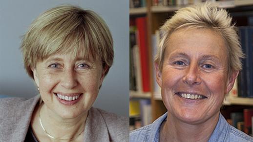 Lisbeth Larsson och Maria Sjöberg. Foto: Göteborgs universitet