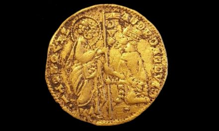 Unikt medeltida guldmynt hittat vid Mörrumsån