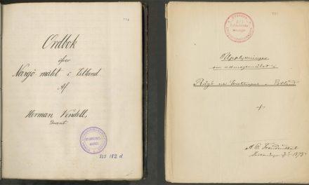 Material om estlandssvenskarna återbördas efter 86 år