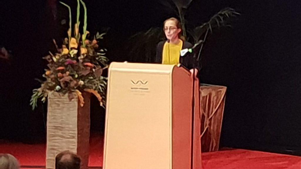 Historikern Sari Nauman tilldelades Cliopriset 2018. Foto: Peter Kristensson/Klingsbergs Förlag
