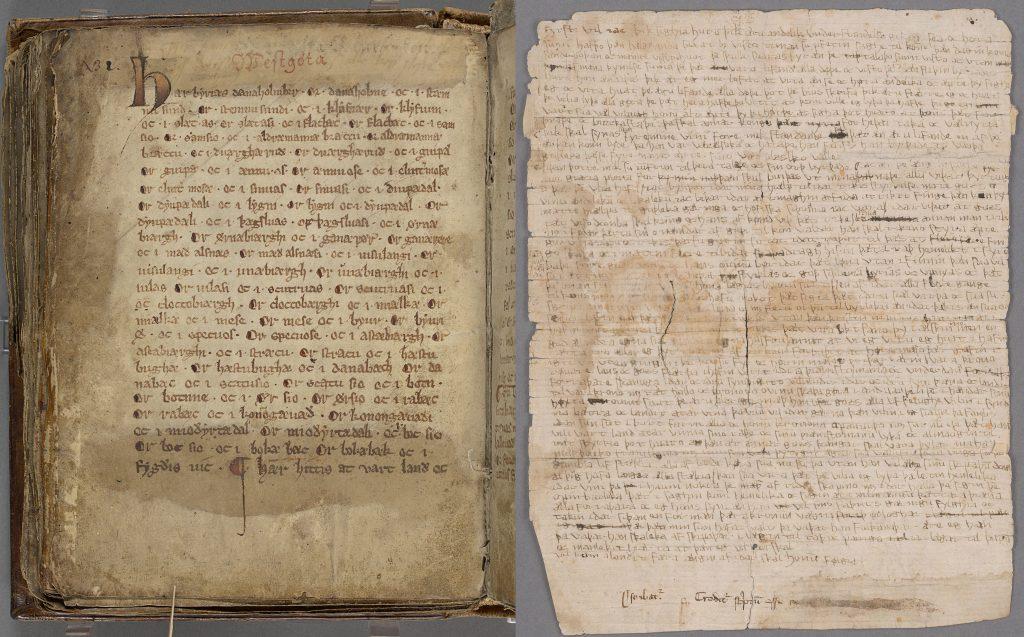 Medeltida handskrifter på Kungliga biblioteket. Foto: KB