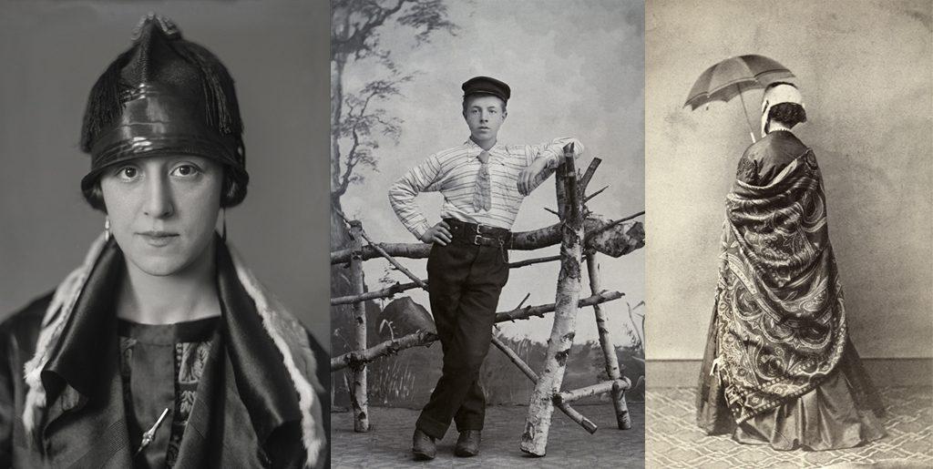 Bilder ur utställningen Klädd för porträtt
