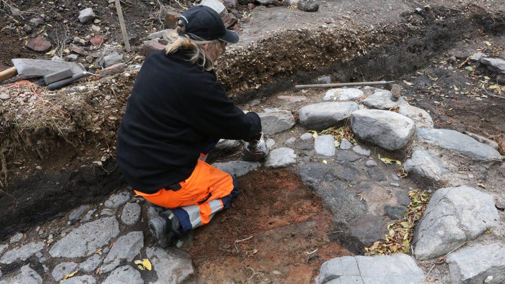 Utgrävningen i Lödöse. Foto: Västarvet