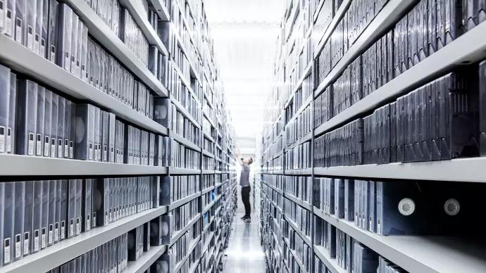 Kungliga bibliotekets audiovisuella samlingar. Foto: Per & Per Fotograf AB