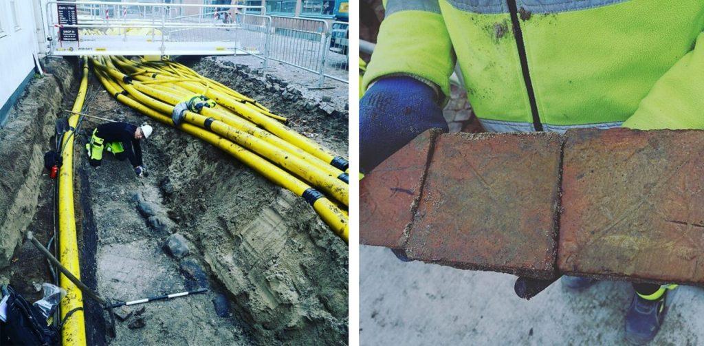 Utgrävningen av Sankt Andreas kyrka. Foto: Kulturen i Lund