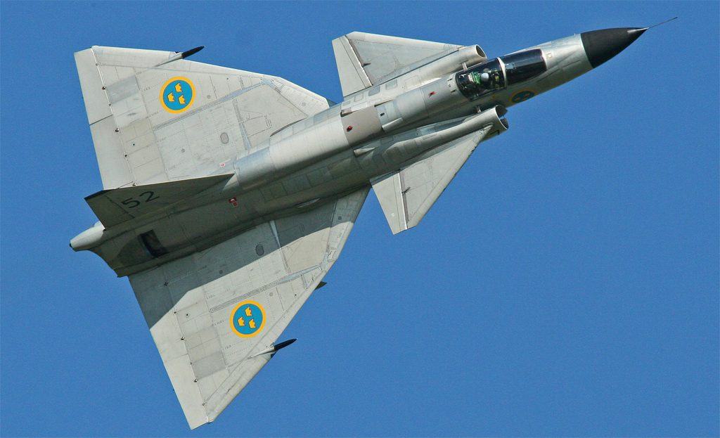AJS 37 Viggen. Foto: Alan Wilson (Wikimedia Commons CC-BY-SA-2.0)