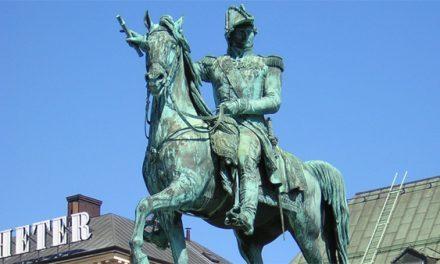 Karl XIV Johan pekar nu mot Ryssland
