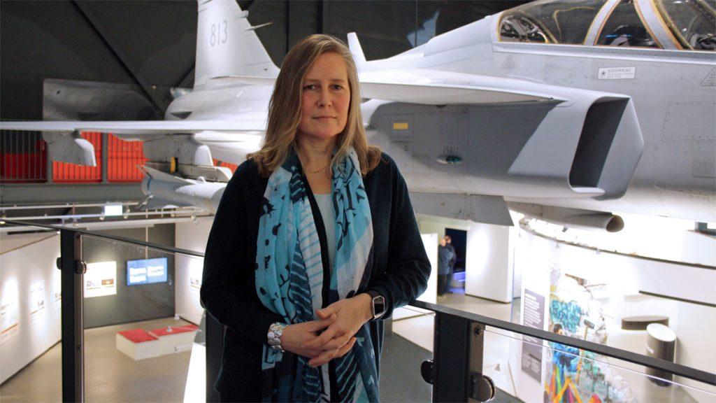 Noomi Eriksson, chef för Flygvapenmuseum. Foto: Åsa Johansson