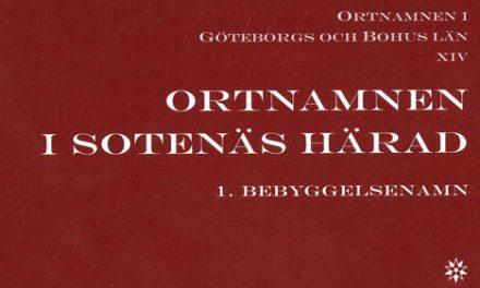 Ny bok om ortnamn i Bohuslän