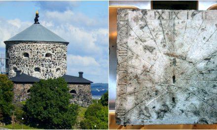 400 år gammalt solur utgrävt vid Västlänken