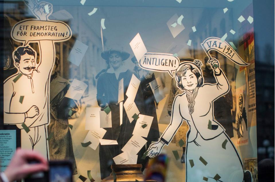 Utställningen Fira demokratin!