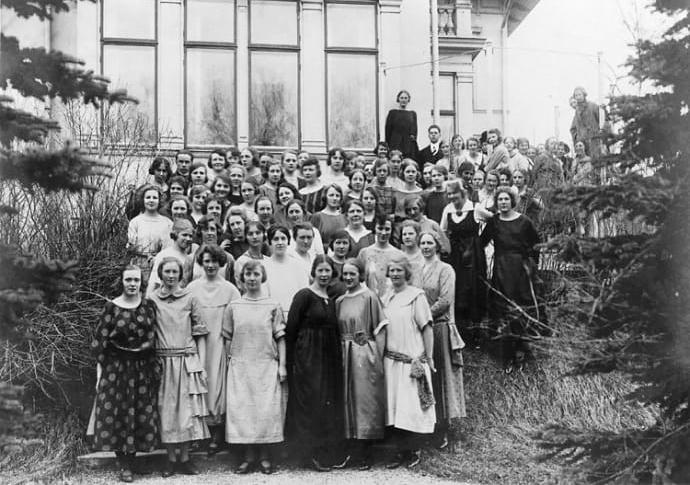 Pensionat Esplanaden i Östersund omkring omkring 1923. Foto: Tobias Sundbäck. Ur Stiftelsen Jamtlis samlingar