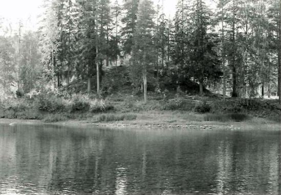 En av högarna på Selholmen vid inventeringen 1982. Foto: Norrbottens museum