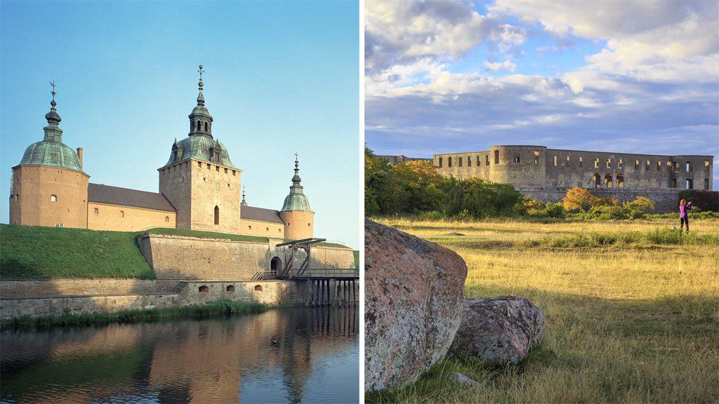 Kalmar slott & Borgholms slottruin. Foto: Åke E:son Lindman & Mattias Johansson, Maddoc