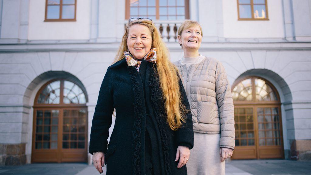 Museichef Sara Claesson och stadsantikvarie Ann-Charlotte Backlund, Stadsmuseet i Stockholm. Foto: Mikael Almehag