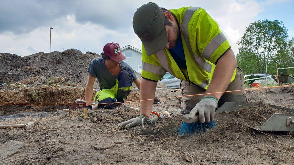Arkeologer från Lödöse museum. Arkivbild: Ian Schemper