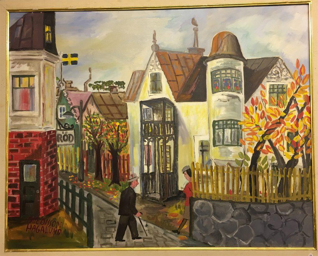 Förfalskad målning av Olle Olsson Hagalund.