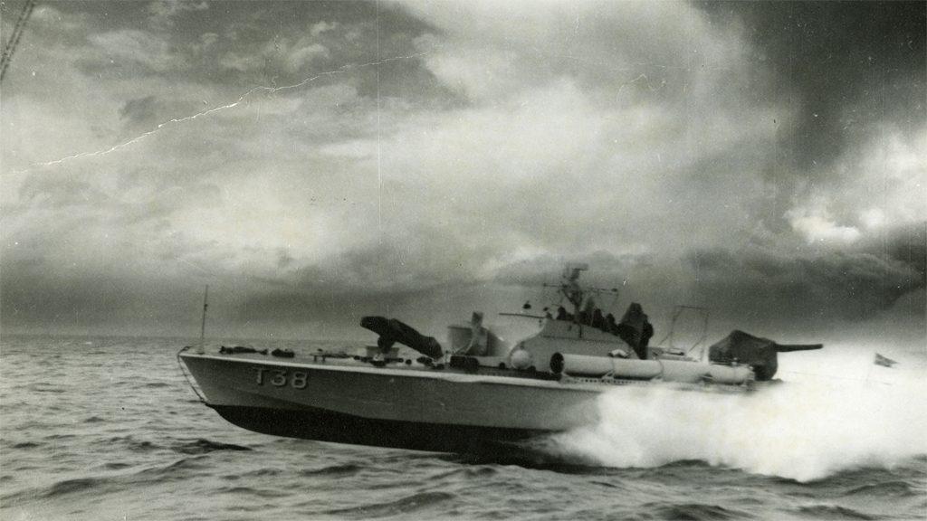 Motortorpedbåten T38. Foto ur Sjöhistoriska museets arkiv