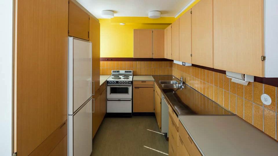 Den orörda lägenhetens kök. Foto: Mattias Ek/Stadsmuseet i Stockholm