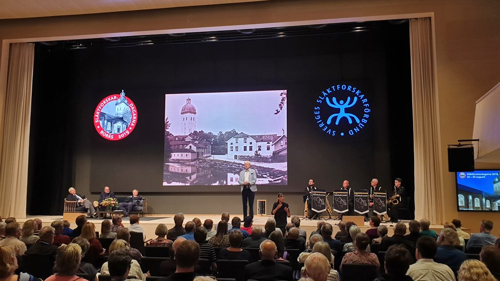 Invigningen av Släktforskardagarna 2019 i Borås. Foto: Peter Kristensson/Klingsbergs Förlag