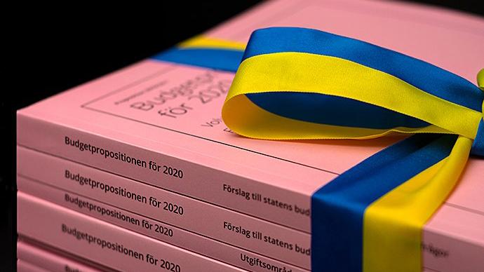 Budgetpropositionen 2020. Foto: Finansdepartementet