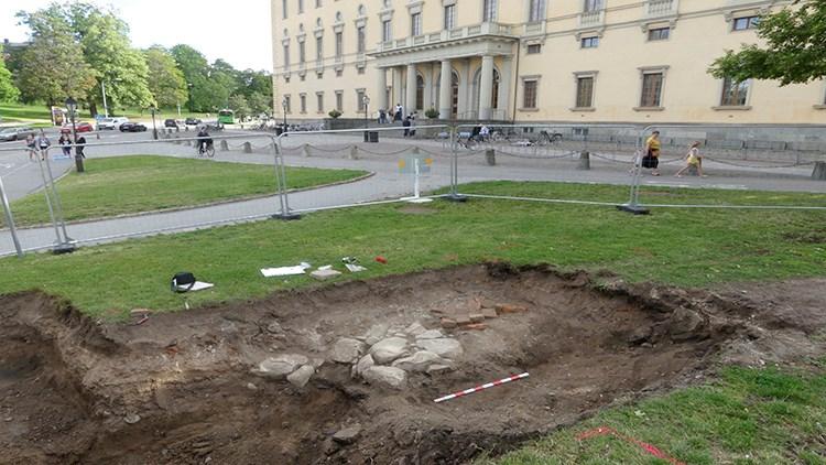 Utgrävning vid Carolina Rediviva. Foto: Upplandsmuseet