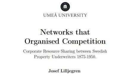 Omfattande nätverk bland försäkringsbolag 1875–1950