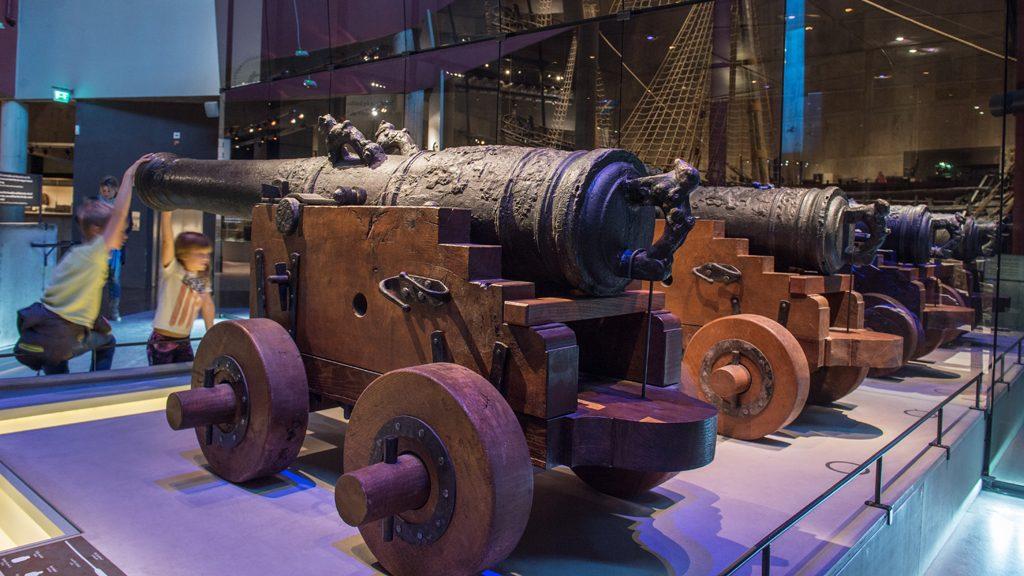 Kanoner från Vasa. Foto: Anneli Karlsson (DigitaltMuseum CC BY-SA 4.0)