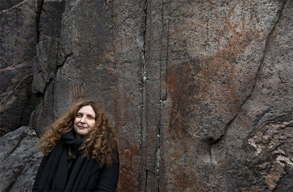 Arkeologen Bettina Schulz Paulsson i Tumlehed. Foto: Johan Wingborg