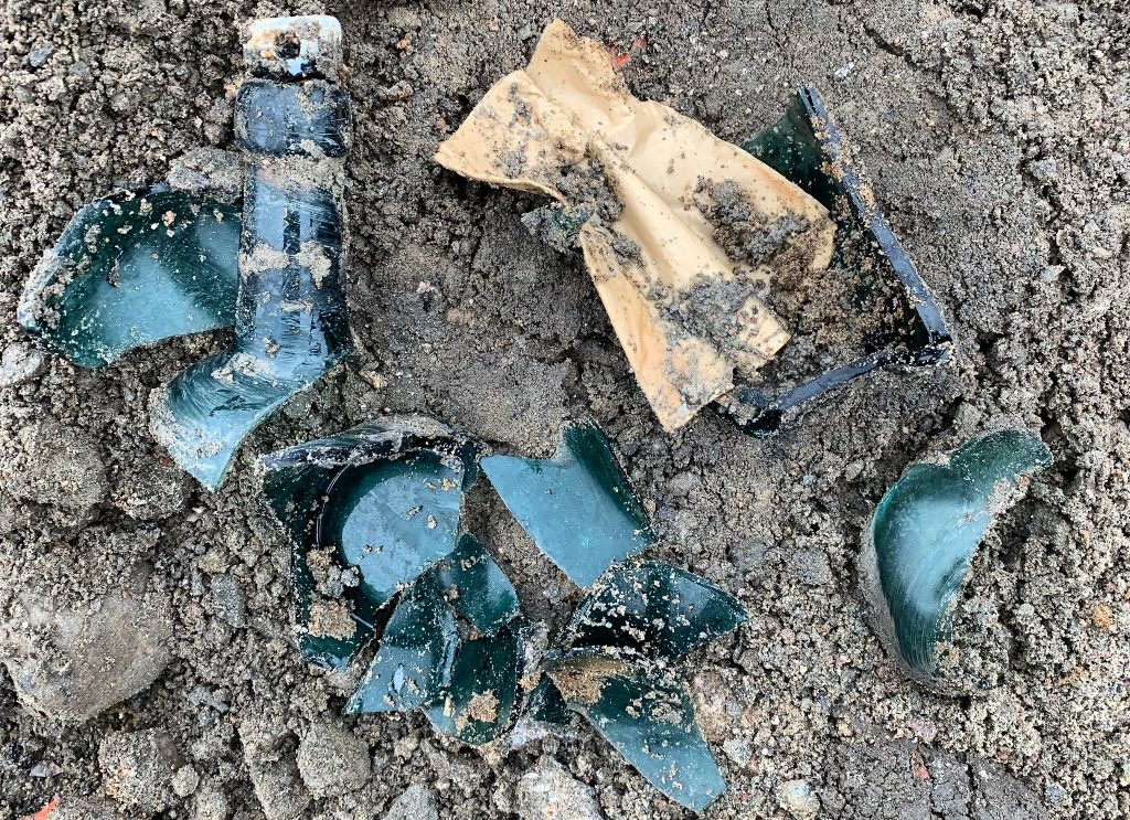 Flaskposten. Foto: Lotta Stenqvist/Arkeologerna