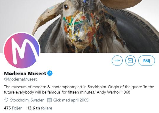 101 svenska museer på Twitter