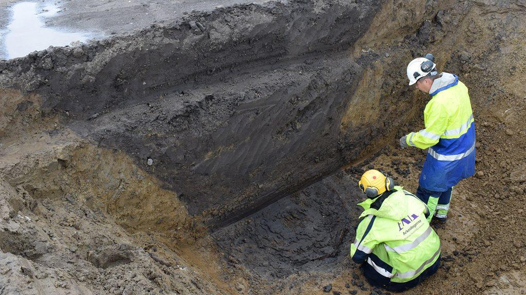 Utgrävning av brunn från 700-talet i Hjärup utanför Lund. Foto: Arkeologerna