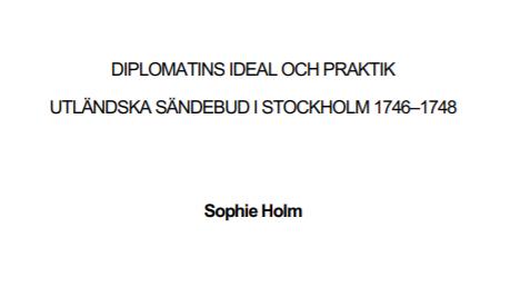 Utländska sändebud i Stockholm 1746–1748