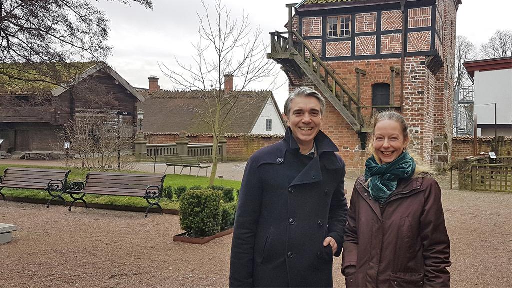 Kulturens museichef Gustav Olsson och forskningsansvarig Lizette Gradén. Foto: Maria Bohlin/Kulturen