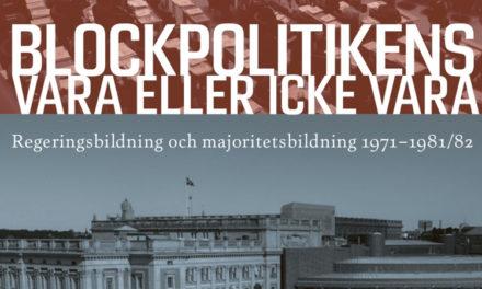 Blockpolitiken i Sverige 1971–1982