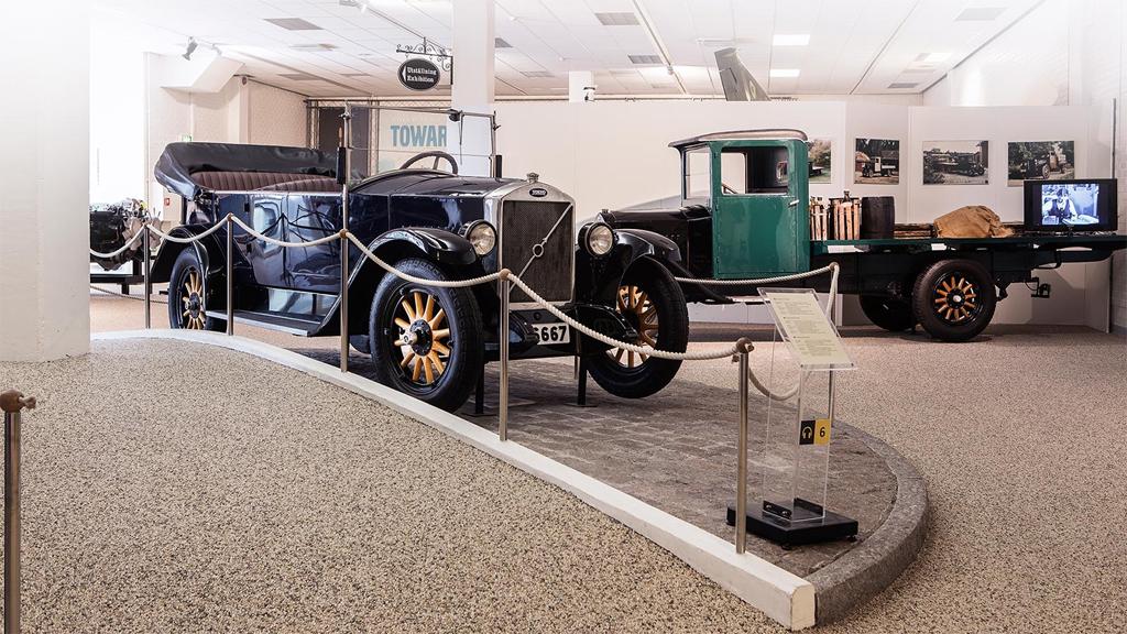De första Volvobilarna. Foto: Volvo Museum