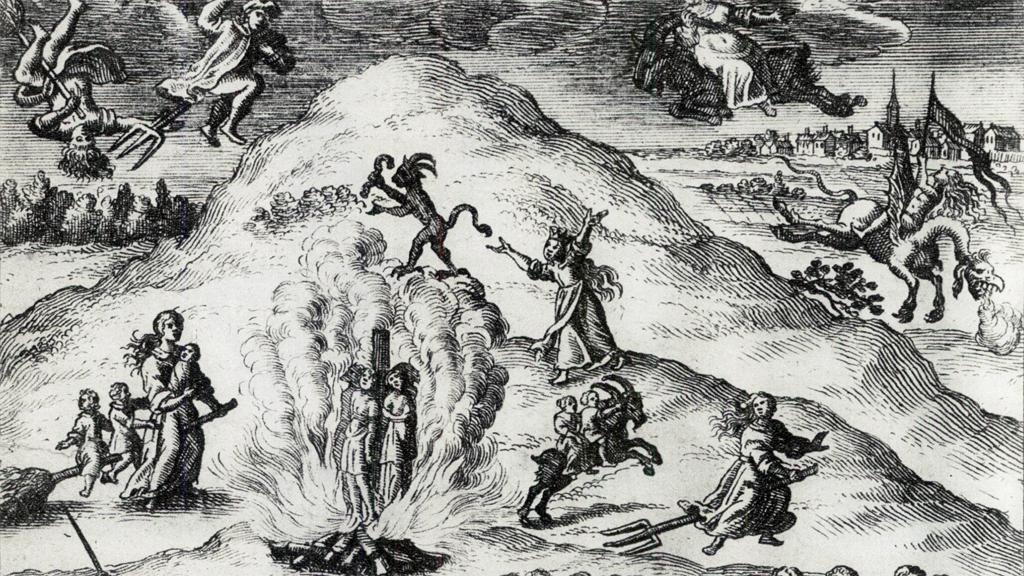 Häxprocesserna i Mora. Tyskt kopparstick från 1670