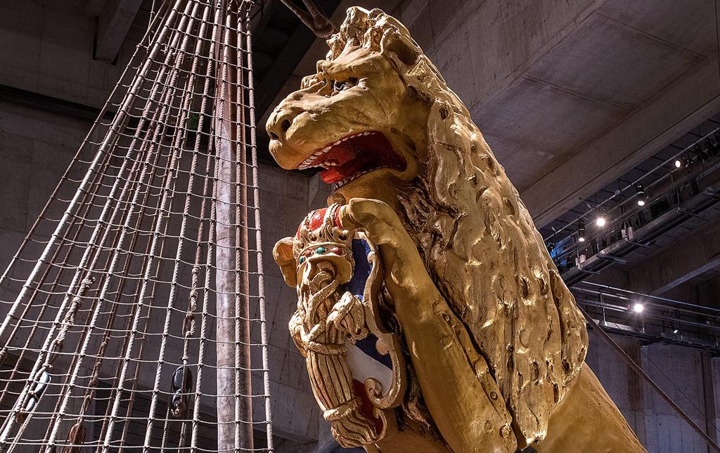 Galjonslejonet på Vasa. Foto: Anneli Karlsson/Vasamuseet